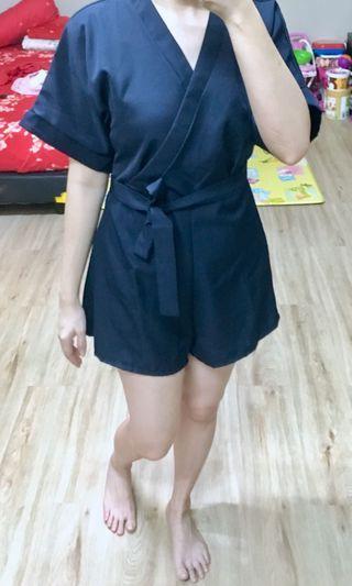 Navy Kimono Jumpsuit