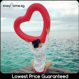 Love Swimming Ring (Rose Gold / Red / Pink) - Giant Adult Swimming Pool Float