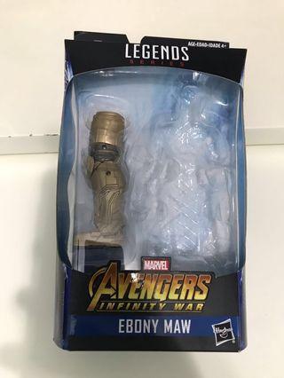 Marvel legends avengers endgame thanos baf (ebony)左腳