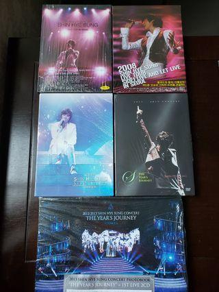 SHIN HYE SUNG CONCERT DVDs