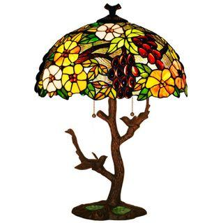 Antique Tiffany Lamp 蒂凡尼檯燈 tree grape style 葡萄