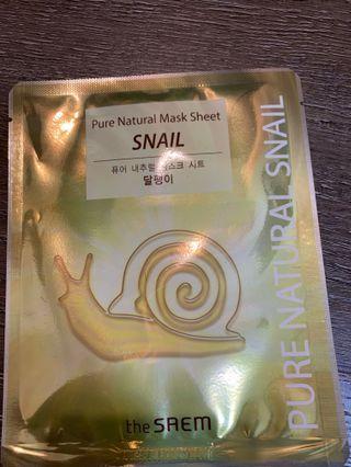 🚚 Snail Mask from Korea