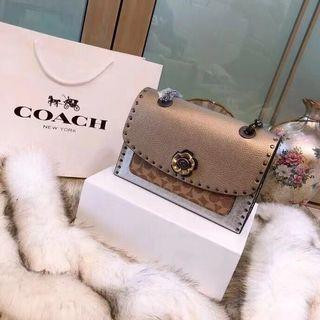 Coach Parker in signature skinsnake rivet authentic