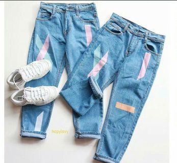 Celana Jeans Boyfriend wanita size 28