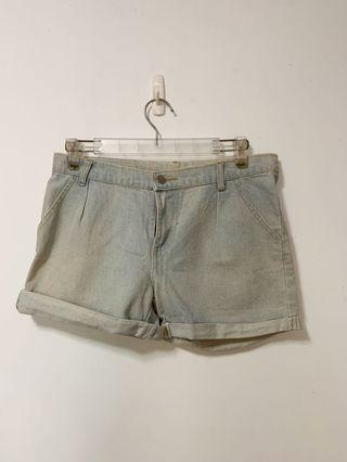 做舊 水洗 牛仔褲 牛仔短褲 寬鬆 捲邊 27腰 28腰