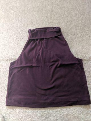 Kookai burgundy high neck tank size1