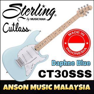 Sterling by Music Man Cutlass CT30SSS Electric Guitar, Daphne Blue(DBL)