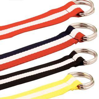 [PO] Colour block Canvas D-Ring Belt