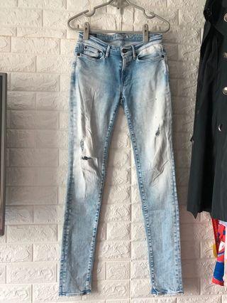 潮牌DENHAM淺藍牛仔褲