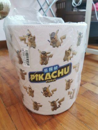 Detective Pikachu Leather Dust Box/Dust Bin