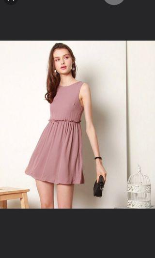 BRAND NEW ACW FRILL BABYDOLL DRESS- In Mauve