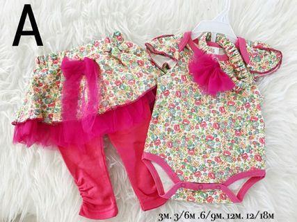 Baby girls 3pcs set