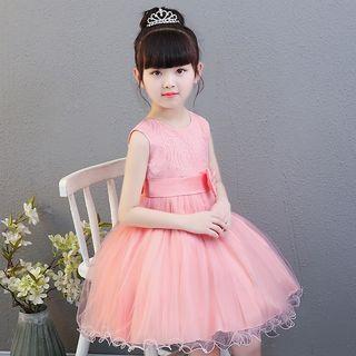 Kids Girls Princess Dress/Part Dress/Flower Girl Dress (8108 Pink/White) 公主裙/礼服裙