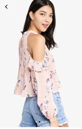 Kitschen Long Sleeves Floral Cut Top