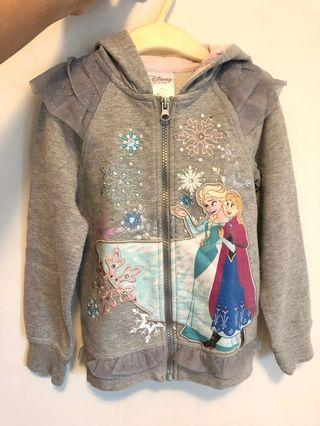 Disney Frozen Grey Jacket with lace & jewels 迪士尼魔雪奇緣女童灰色閃石外套