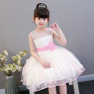 Kids Girls Princess Dress/Party Dress/Flower Girl Dress (Pink/Purple ) 公主裙/礼服裙