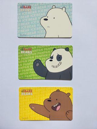 🚚 We bare bear ezlink card collection set