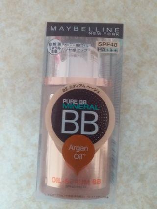 全新Maybelline pure b.b mineral (Argan Oil)