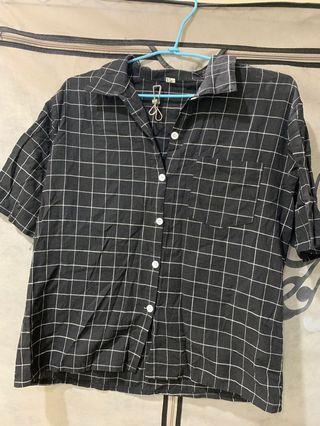 黑格線襯衫
