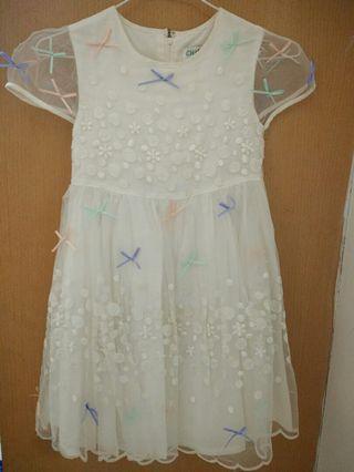 [杉媽雜貨鋪][巧帛蕾絲洋裝8~10歲都適合](買一送一)不保不退