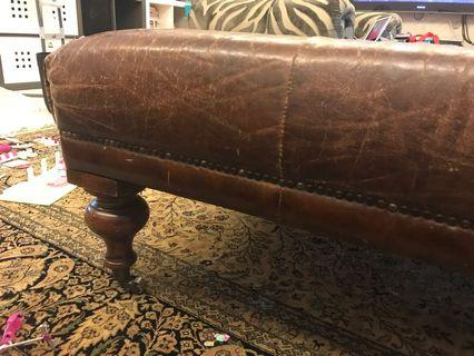 Big and soft leather coffee table