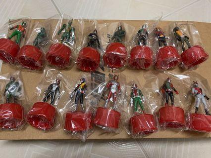 全新歷代仮面幪面超人15隻樽蓋鹹蛋超人玩具