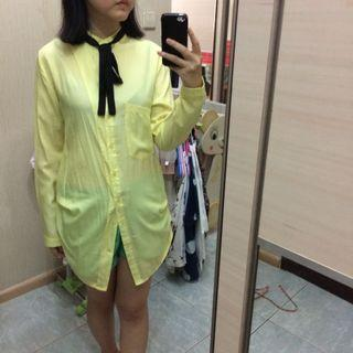 NEW! Coco kelen yellow shirt with bowtie