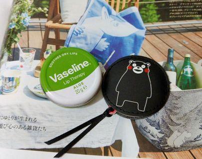 凡士林 Vaseline(歐洲版)護唇膏小圓罐+熊本熊隨身鏡組 20g 蘆薈