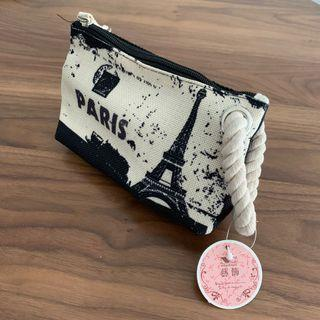 Paris Canvas Pouch Bag Pencil Case Stationery Holder @sunwalker