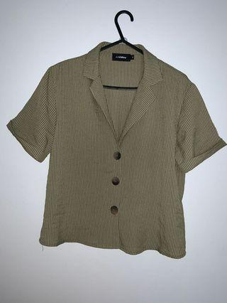 cure vintage green top