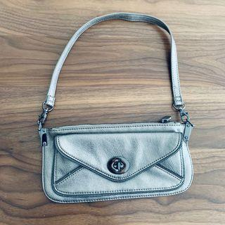Esprit Grey Glossy Small Shoulder Handbag  @sunwalker