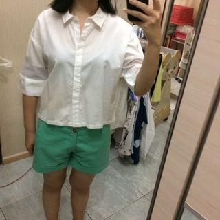 Colorbox crop top shirt white