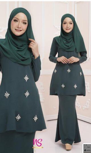 #gayaraya Kurung moden 2019 emerald green saiz S