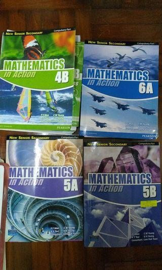 Mathematics In Action compulsory part 4B 5A 5B 6A Pearson Longman new senior secondary textbook 數學書