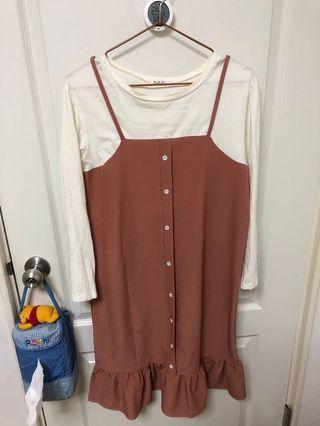 偽兩件式裙 日系森林系