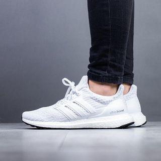 現貨 iShoes正品 Adidas UltraBOOST W 女鞋 全白 馬牌 編織 襪套 運動 慢跑鞋 BB6308