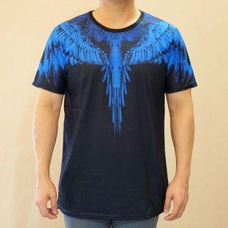 Tshirt Black blue wings