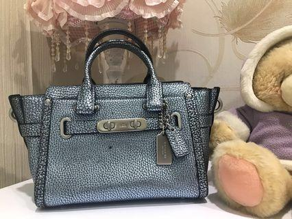 Coach Swagger 20 Metalic Leather