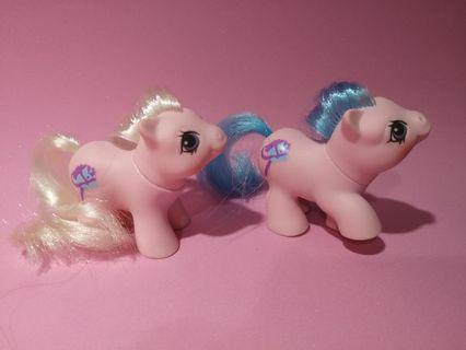 🚚 Vintage G1 My Little Pony Newborn Twins Sticky and Sniffles