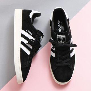 現貨 iShoes正品 Adidas Campus 情侶鞋 女鞋 男鞋 黑 白 奶油 麂皮 經典 運動鞋 BZ0084