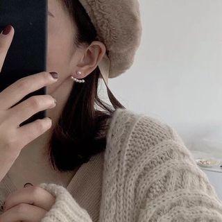 🚚 韓國飾品 珍珠船錨耳環