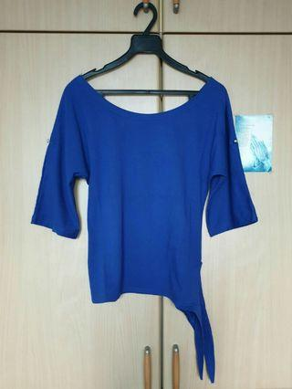 Royal Blue Side-Tie Top