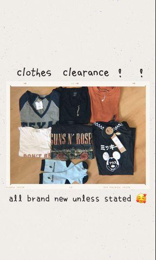 clothes clearance !! 💅🏼