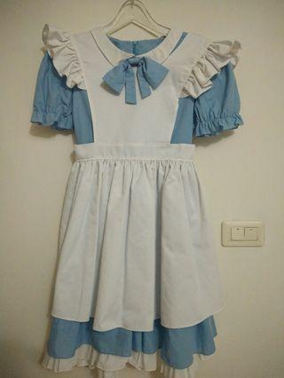 [杉媽雜貨鋪][手工自製cosplay愛麗絲洋裝,假兩件式](不保不退)