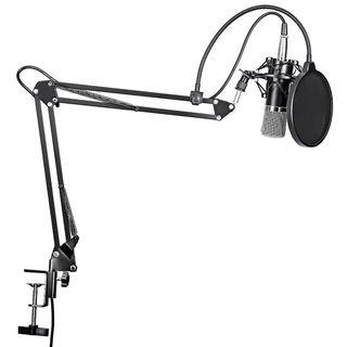 Condenser Microphone with Mic Suspension METAL Scissor Arm Stand Kit BM-800