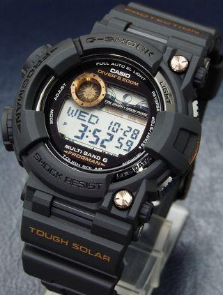 100% Authentic new Japan JDM edition Limited Edition and very rare Casio Black Rose Gold Frogman GWF-1000B-1JR Watch