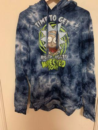 Rick and Morty tie dye hoodie