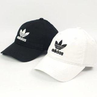 現貨 iShoes正品 Adidas Trefoil Cap 帽子 老帽 白 棒球帽 三葉草 可調整帽圍 BR9720