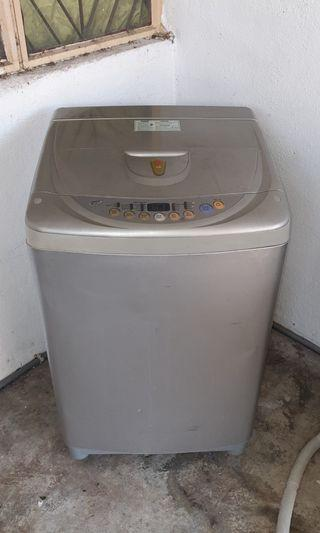 Used LG washer 8.5kg washing machine mesin basuh fully automatic stainless steel drum in good condition