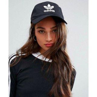 現貨 iShoes正品 Adidas Trefoil Cap 帽子 黑 老帽 棒球帽 三葉草 可調整帽圍 BK7277